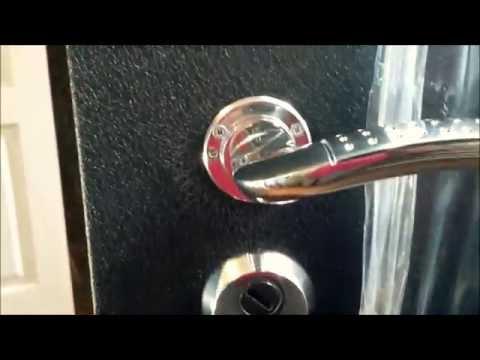 Как установить дверной замок на входную дверь металлическую