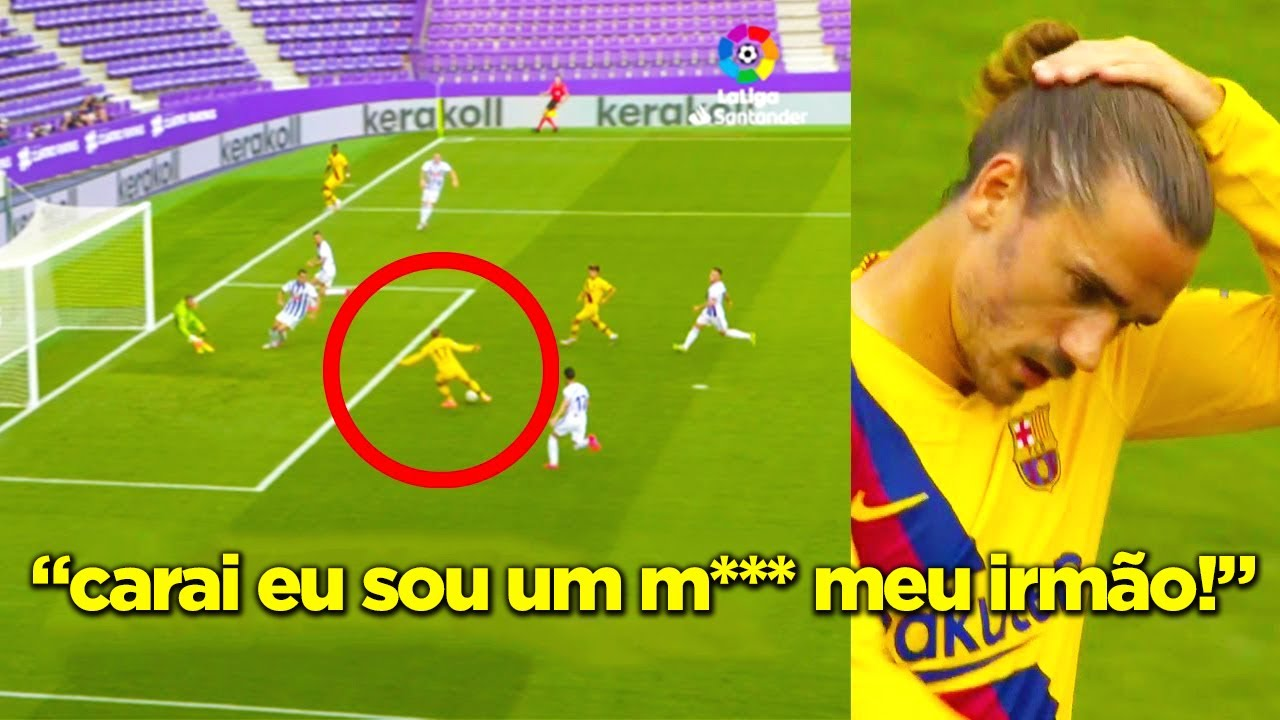 MESSI DESTRUINDO E GRIEZMANN PERDENDO GOL.. TUDO NORMAL!!! MESSI X VALLADOLID!!