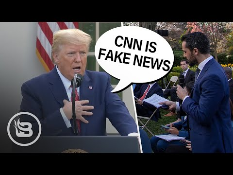 "Trump CLASHES With CNN: ""They Are Fake News, Remember That"""
