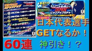 キャプテン翼#36 たたかえ蒼き戦士たち JAPANピックアップガチャ STEP6まで 60連 あの日本代表選手GET!? Captain Tsubasa