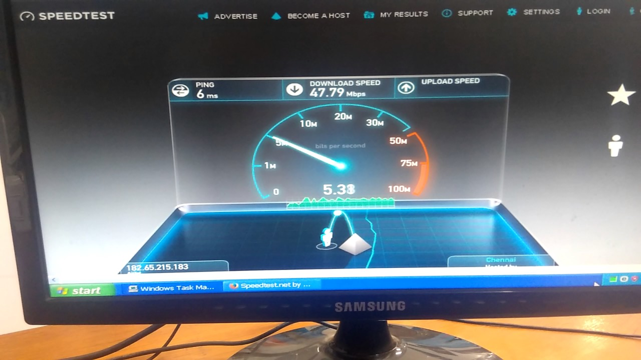 Airtel V Fiber Net Broadband Speed Test Youtube