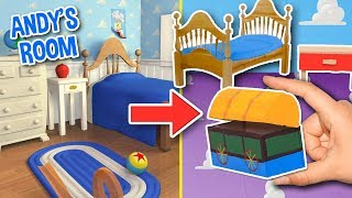 DIY 🤠 MINIATURE ANDY'S ROOM 🏡 TOY STORY 4 - Crafts & Decor