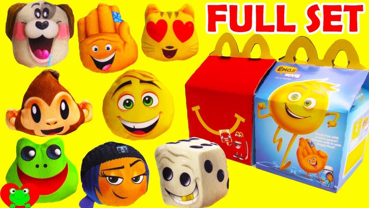 2017 The Emoji Movie McDonald's Happy Meal Toys Full Set ...