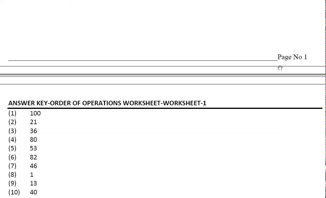 GRADE 4 MATHS ORDER OF OPERATIONS WORKSHEET YouTube – Orders of Operation Worksheet