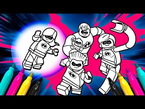 LEGO The Incredibles Coloring Page | INCREDIBLES 2