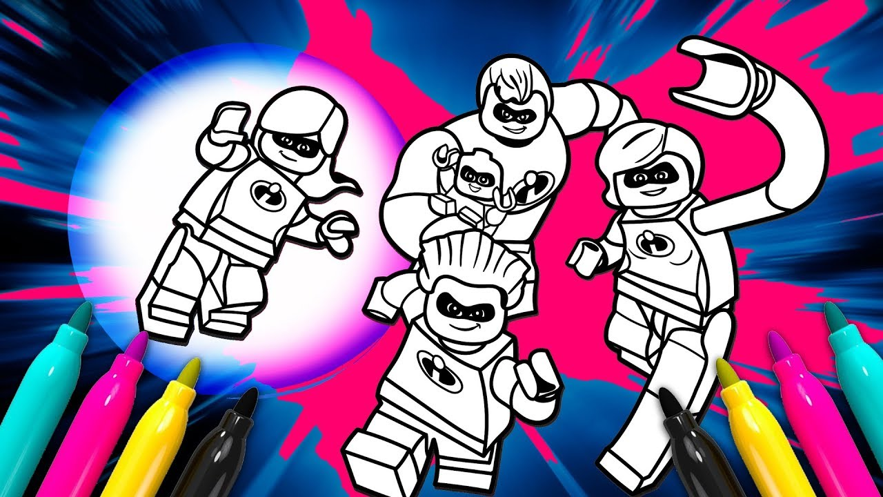 LEGO The Incredibles Coloring Page