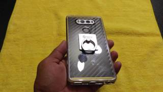 lg v20 dbrand skin unboxing and review