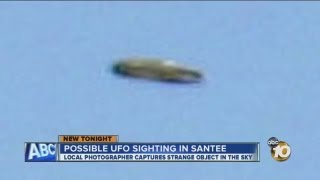 MAY 22 2013 AMAZING UFO OVER SANTEE, CALIFORNIA HD
