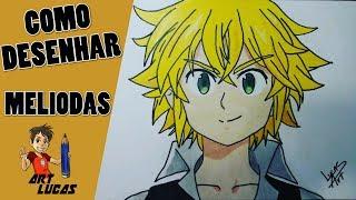Como Desenhar o Meliodas ( Nanatsu No Taizai), How To Draw Meliodas.