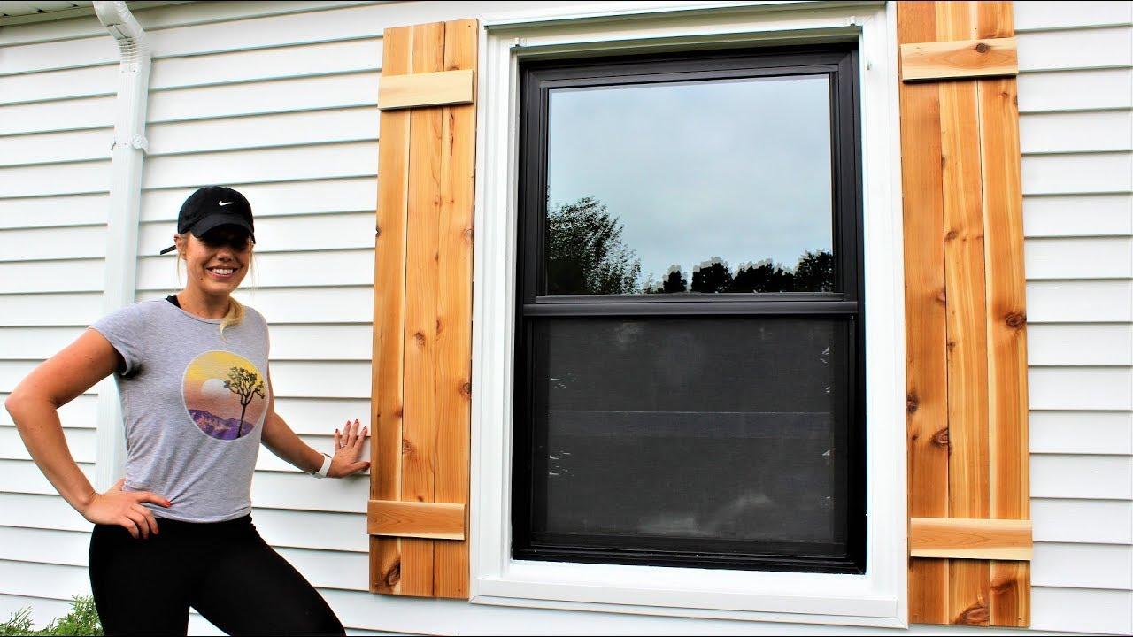The 30 Minute Cedar Shutters Easy Diy Project