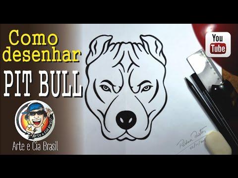 Como Desenhar Cao Pit Bull Passo A Passo Youtube