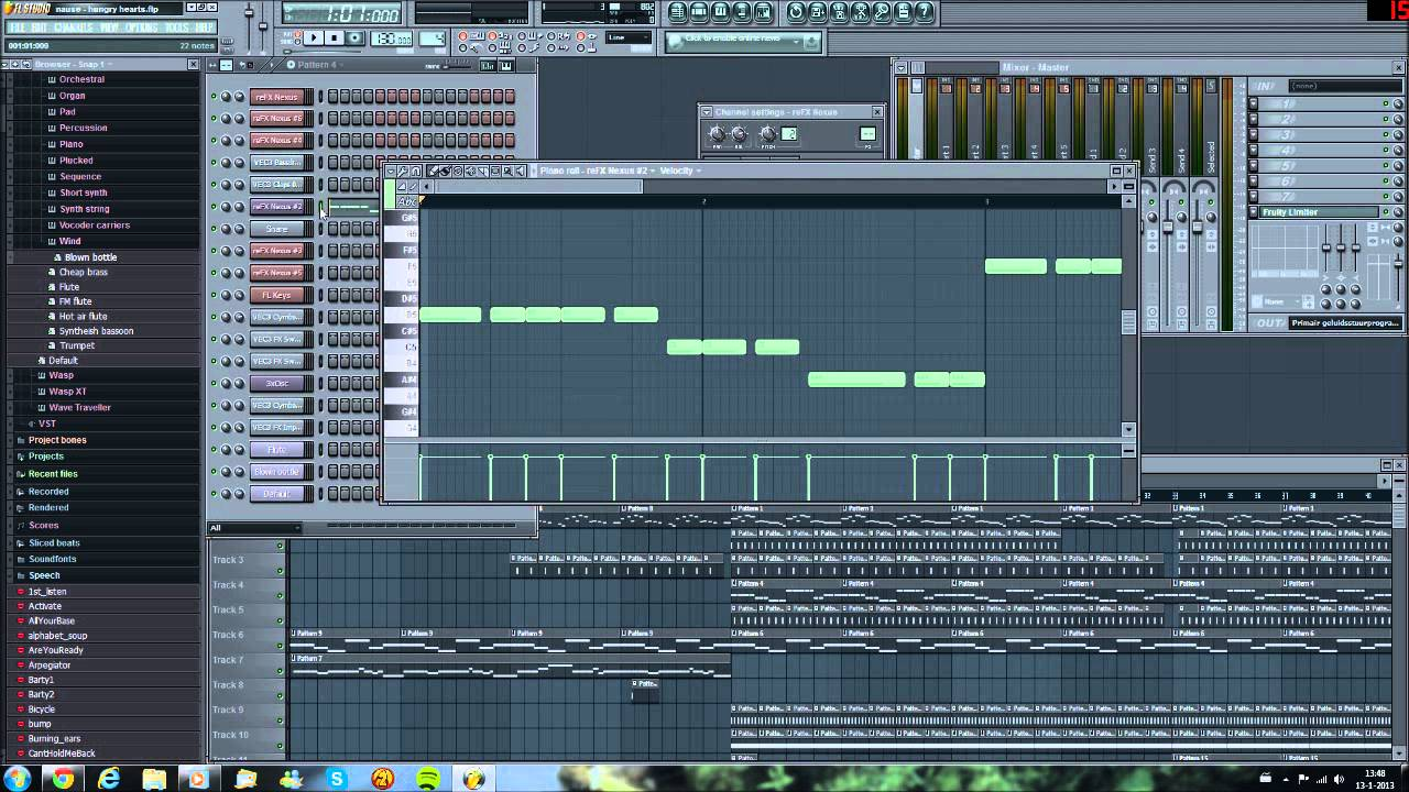 how to add notes in fl studio