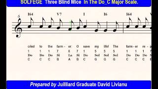 SOLFEGE Three Blind Mice, in the Do_C Major Scale. SIGHT-SINGING & TRANSPOSITION