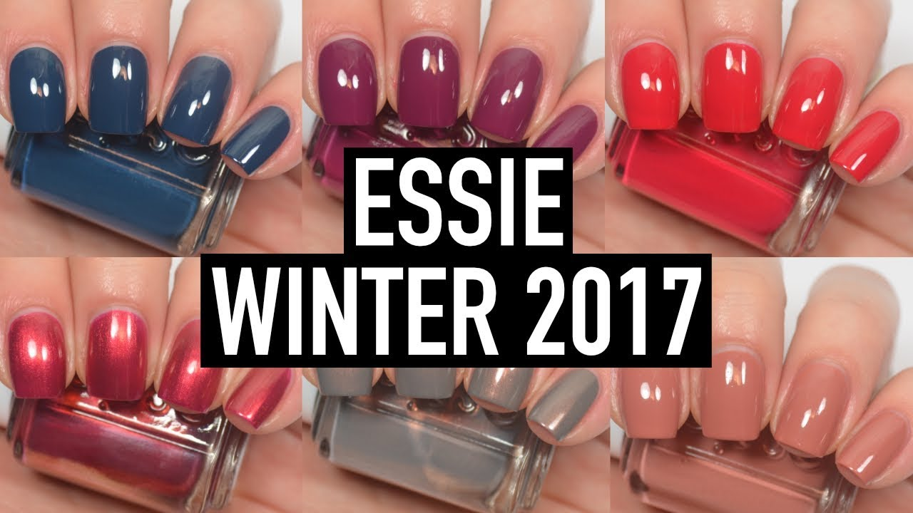 Essie - Winter 2017 | Swatch and Review - YouTube