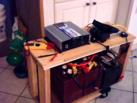 running a refrigerator off solar / battery back up  test doomsday preppers