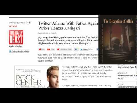 Muslim brotherhood puppet Obama supports execution of 23 yr old Saudi writer
