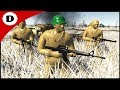 TAN ARMY TRENCH LINE FINAL STAND- Army Men: Civil War Season Finale