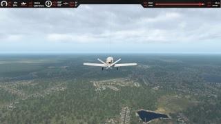 X-Plane 11 - Cirrus Vision SF50 + ATC + ParaShoot Landing
