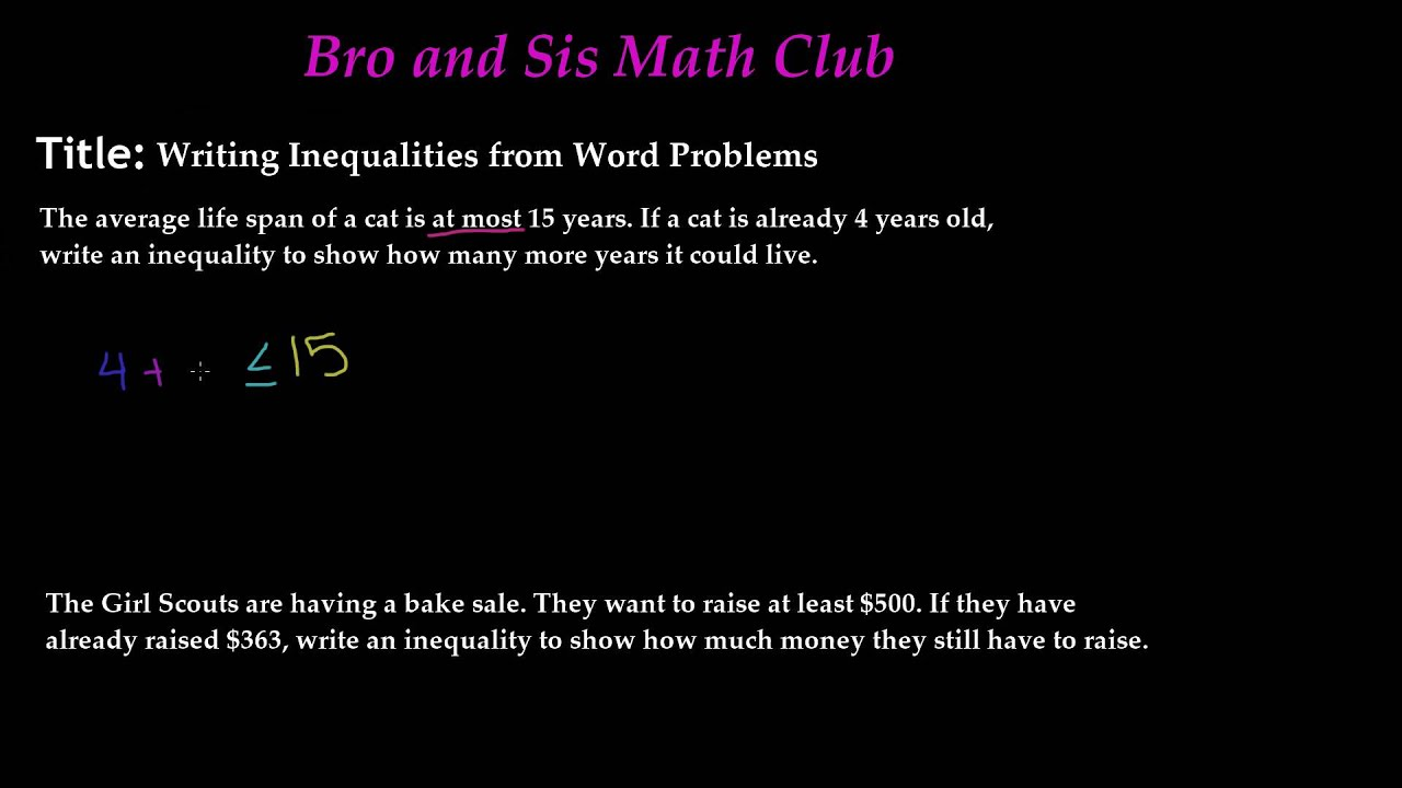 Hard Math Problems For 7th Graders aprita – Solving Inequalities Word Problems Worksheet