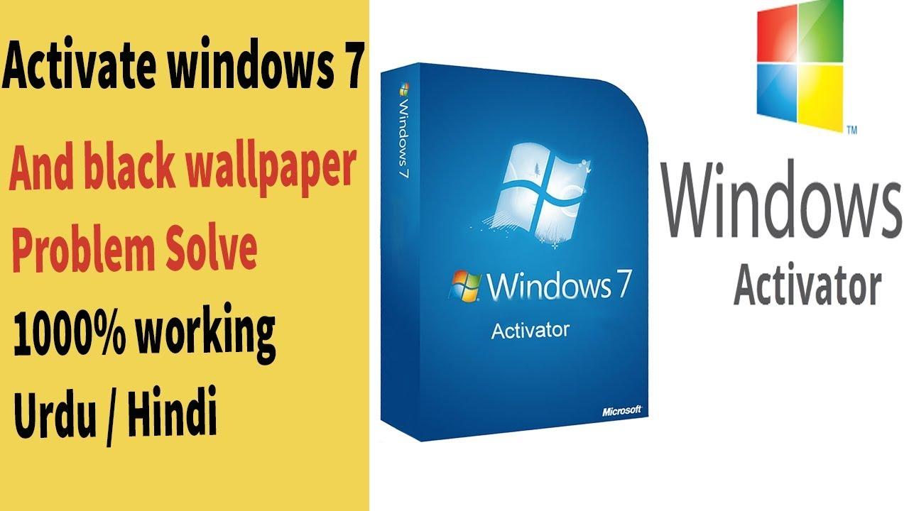 Windows 7 Black Wallpaper Problem Solve Through The Activate Windows 7