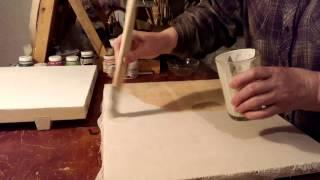 Левкас для икон.(Как правильно приготовить доску для иконописания. Проклейка доски,побелка, нанесение левкаса. Я в VK. https://vk.co..., 2015-02-27T16:43:47.000Z)