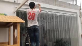 Rèm nhựa ngăn lạnh, rèm nhựa ngăn bụi, rèm nhựa tại Hà Nội