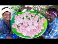 GOAT BRAIN Recipe   Cleaning and Cooking in Village   25 Full Goat Brains   Tasty Village Food