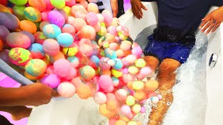 EXTREME 1000+ BATH BOMBS CHALLENGE!(Today I put 1000+ bath bombs in my bathtub to see what happens. Subscribe and become a GUAV! ➽ http://bit.ly/GUAVAJUICE Guava Juice Merchandise ..., 2016-07-19T19:00:01.000Z)