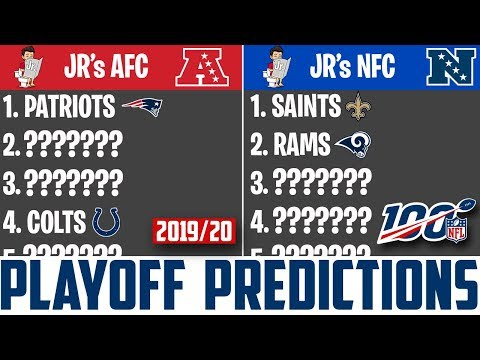 2020 Nfl Playoff Schedule.Nfl Playoff Predictions 2019 20 Season W Junior Youtube