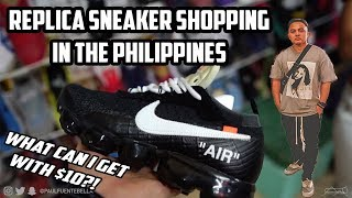 FAKE SNEAKER SHOPPING in the Philippines $10 BUDGET!! They as good?
