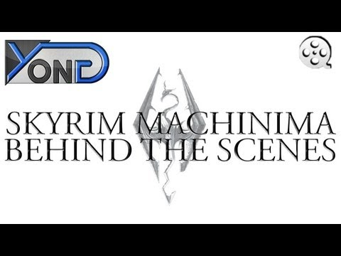 Skyrim Machinima Behind the Scenes! - Filming a Shot