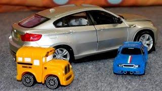 Игрушечные Машинки, гоночная машина, автобус и модель БМВ - выставка автомобилей(Мультфильмы про выставку автомобилей. машины, машинки, автобусы, автомобили. Видео для детей про выставку..., 2014-07-12T10:35:40.000Z)