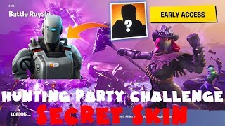 SECRET SKIN A.I.M. - Hunting Party Week 7 Challenge Guide - Fortnite Battle Royale Season 6