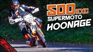 KTM 500 EXC Supermoto HOONAGE!! | FMF First Ride