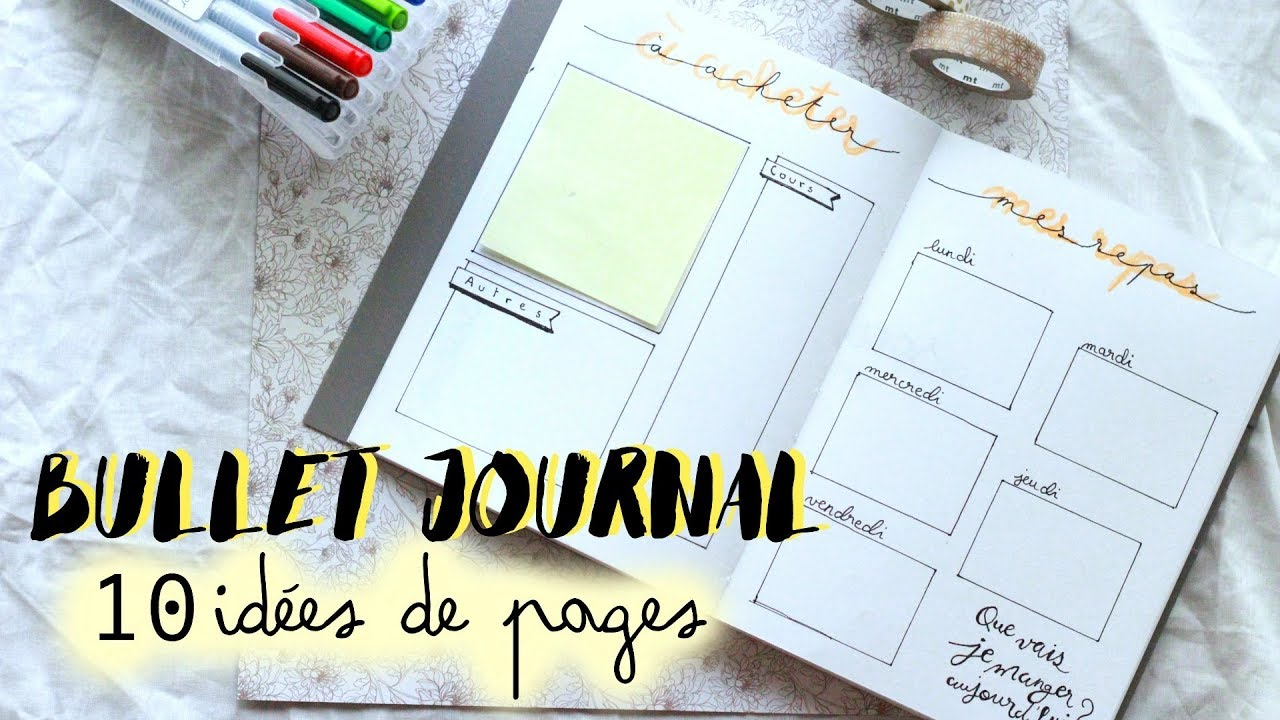 Bullet journal 10 id es de pages youtube - Idee tracker bullet journal ...