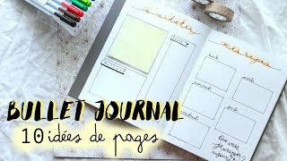 BULLET JOURNAL | 10 IDÉES DE PAGES