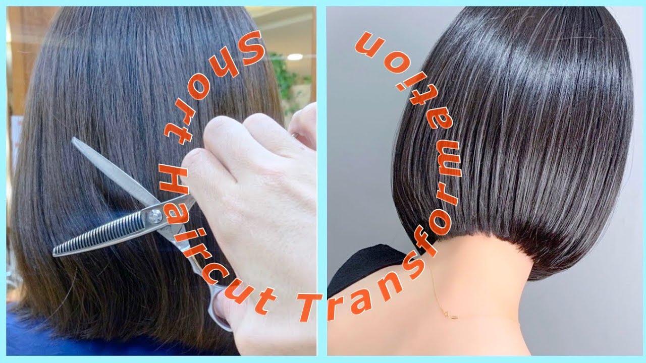 #ミディアムウルフ #ワンレングスボブ #LifeBeauty Short Haircut Transformation /JapaneseHottest Hairstyle/Nor-Su