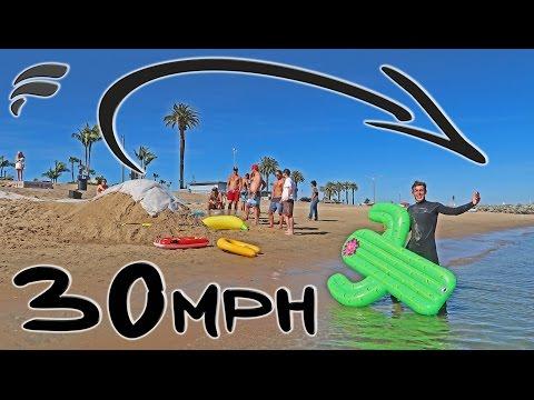 MOTORIZED PULLEY SLIP'N SLIDE JUMP!! (DANGEROUS)