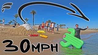MOTORIZED PULLEY SLIP'N SLIDE JUMP!! (DANGEROUS)