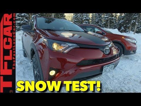 2018 Honda CR-V vs Toyota RAV4 Snowy AWD Review