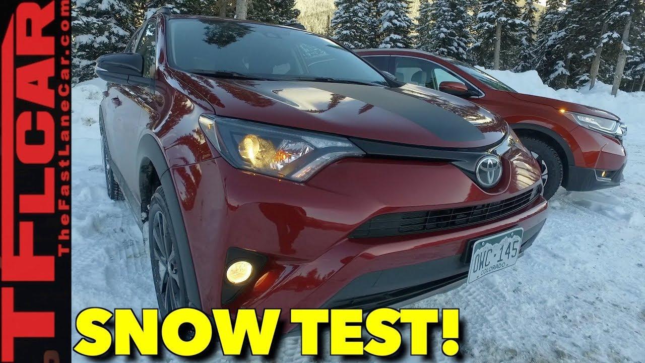 2018 Honda Cr V Vs Toyota Rav4 Snowy Awd Review