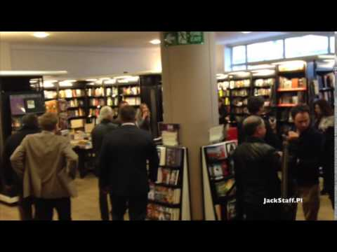 Jimmy Page signing his new book in London