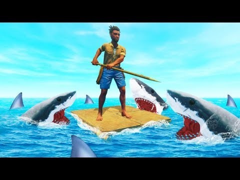 PLAYING RAFT With 1000+ SHARKS! (Impossible)