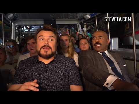 Jack Black and Steve Harvey Crash a Universal Tram Tour