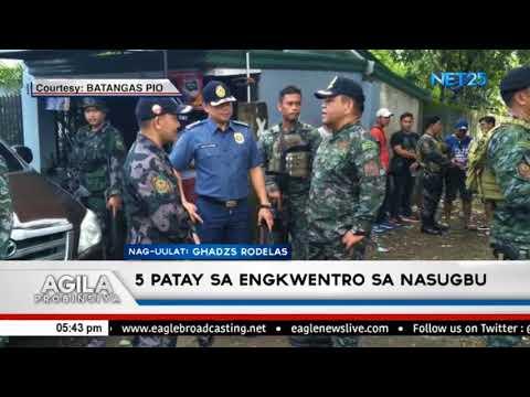 5 patay sa engkwentro sa Nasugbu, Batangas