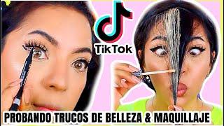 PROBANDO TRUCOS DE BELLEZA Y MAQUILLAJE DE TIKTOK 2020 (FUNCIONAN?)♥BeautybyNena