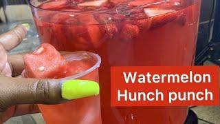 WATERMELON HUNCH PUNCH RECIPE
