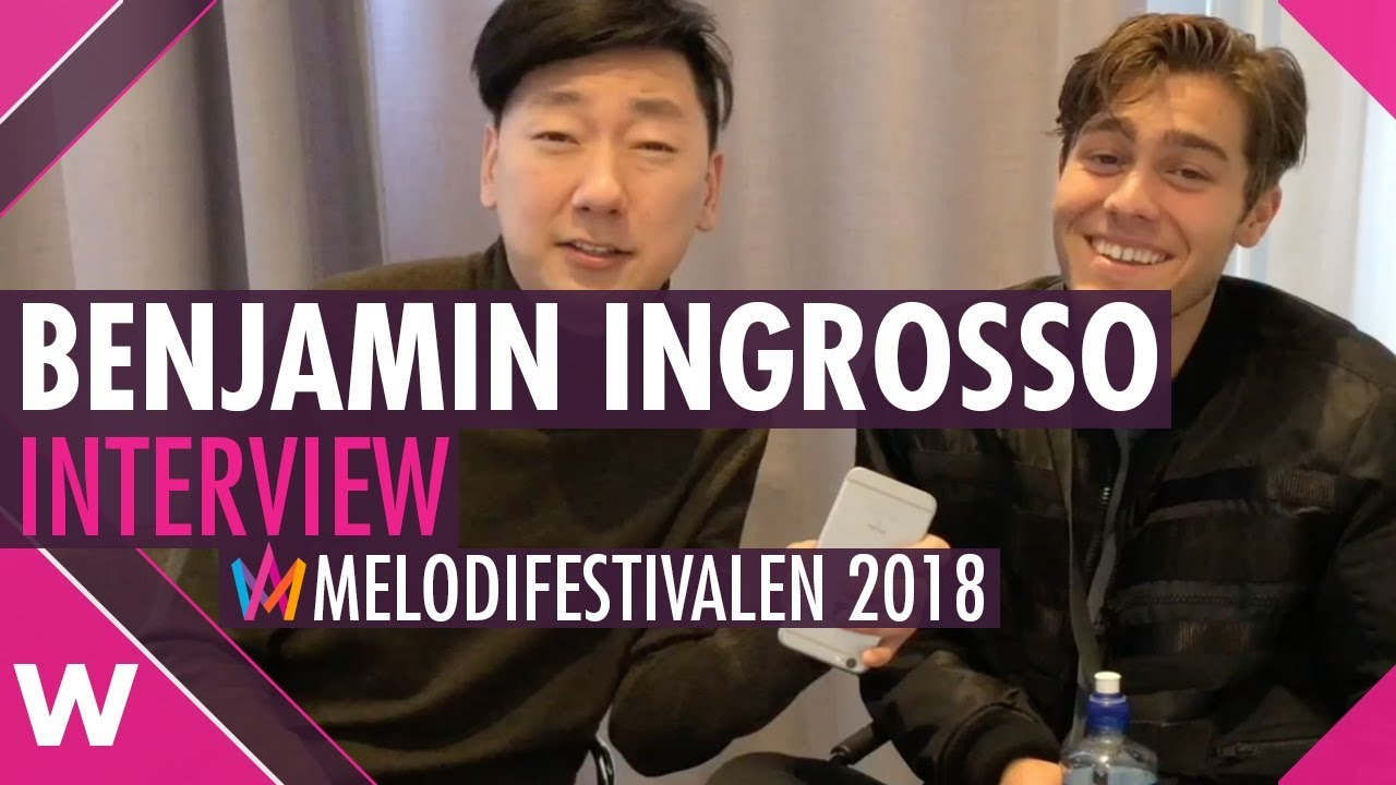 Benjamin Ingrosso Dance You Off Melodifestivalen 2018 Karlstad Interview Youtube