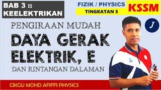Simple Calculation Emf & Internal Resistance// Pengiraan Mudah Dge  Tutorial 9.4 B