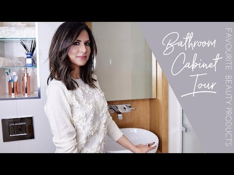 WHAT'S IN MY BATHROOM CABINET | Bathroom Tour & Favourite Skincare + Haircare | JASMINA BHARWANI